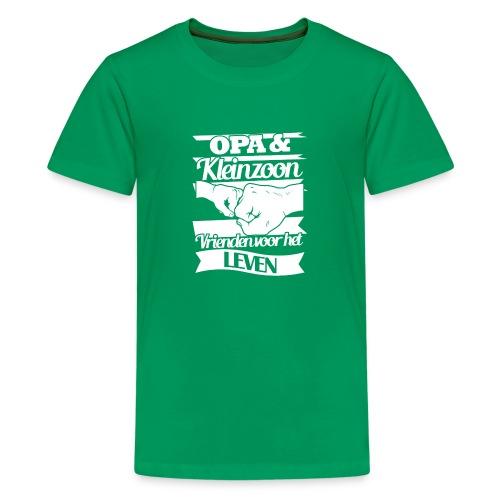 Opa kleinzoon vrienden voor het leven Vaderdagtip - Teenager Premium T-shirt