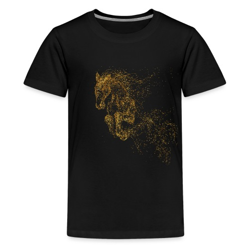 Vorschau: jumping horse gold - Teenager Premium T-Shirt