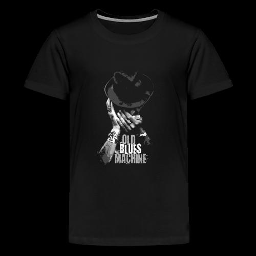 15-7 OLD BLUES MACHINE-Tekstiili- ja lahjatuotteet - Teinien premium t-paita