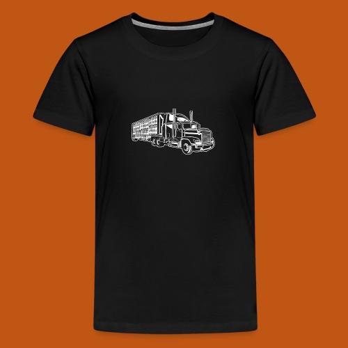 Truck / Lkw 01_weiß - Teenager Premium T-Shirt