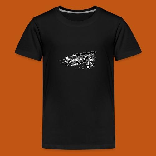 Flieger / Airplane 01_schwarz weiß - Teenager Premium T-Shirt