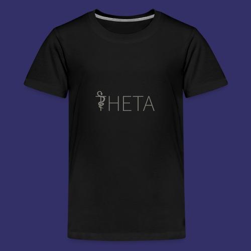 Grey and black - Teenage Premium T-Shirt