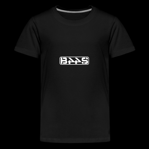 LOGO PLAIN wit transparant - Teenager Premium T-shirt