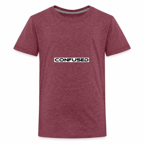 CONFUSED Design, Verwirrt, cool, schlicht - Teenager Premium T-Shirt