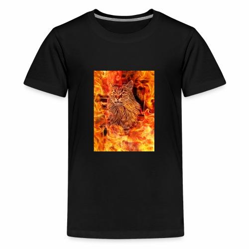 Norwegische Waldkatze Jacky - Teenager Premium T-Shirt