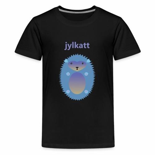 Blå Jylkatt Bornholmsk ord - Teenager premium T-shirt