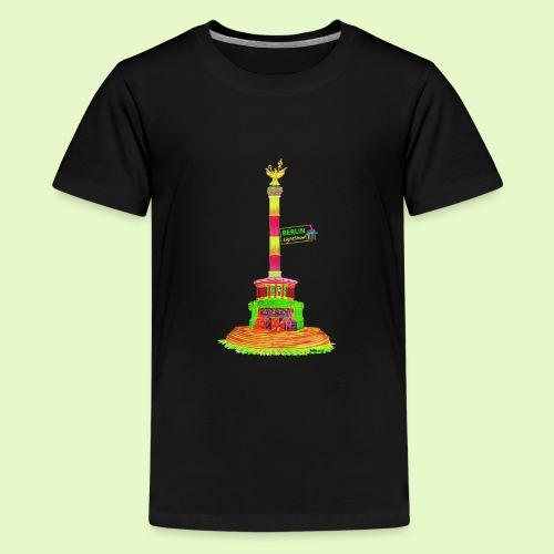 DIE Siegessäule / BerlinLightShow / PopArt - Teenager Premium T-Shirt
