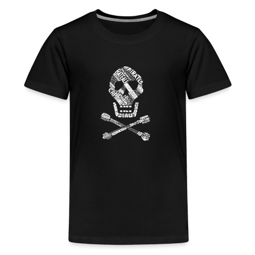 Tête de mort mots blanc - T-shirt Premium Ado