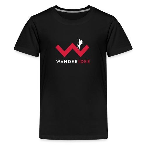 wanderidee_Logo_negativ_S - Teenager Premium T-Shirt