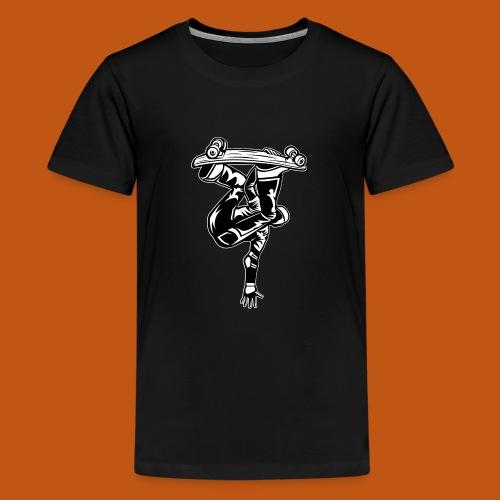 Skater / Skateboarder 03_schwarz weiß - Teenager Premium T-Shirt