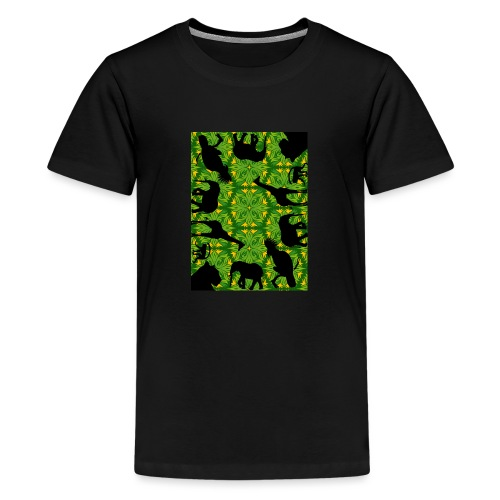 Im Dschungel - Retrolook - Teenager Premium T-Shirt