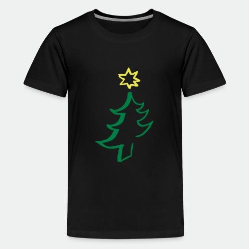 diagonal christmas tree - Teenage Premium T-Shirt