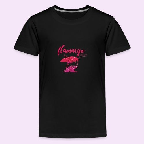 Wannabe Flamingo Sprinkhaan HOT PINK BABY - Teenager Premium T-shirt