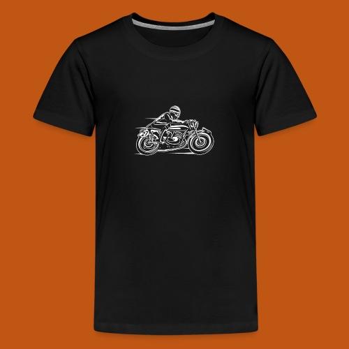 Cafe Racer Motorrad 03_weiß - Teenager Premium T-Shirt