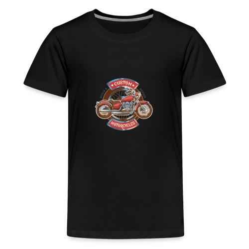 Custom Motorcycles - Camiseta premium adolescente