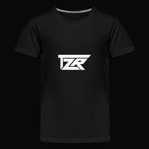 TZR White Logo - Teenage Premium T-Shirt