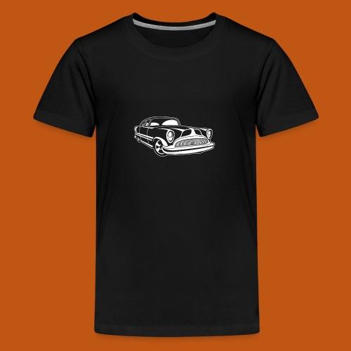 Lowrider / Oldtimer / Muscle Car 03_weiß - Teenager Premium T-Shirt