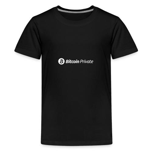 Bitcoin Private Logo White - Teenage Premium T-Shirt