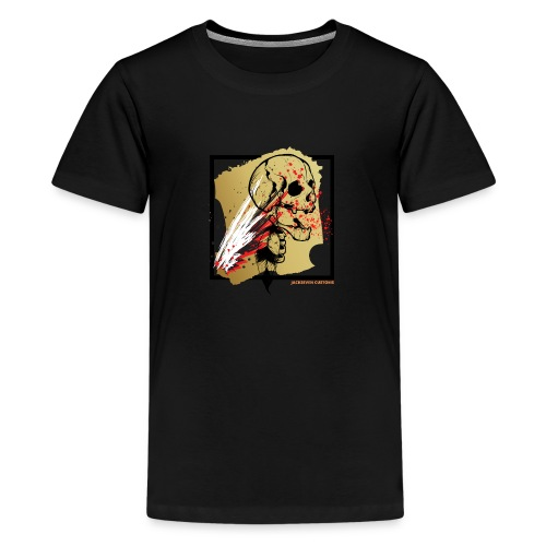 Indian Skull - Trash Polka - Totenkopf - Biker - Teenager Premium T-Shirt