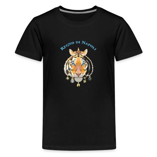 regno di napoli tigre - Maglietta Premium per ragazzi