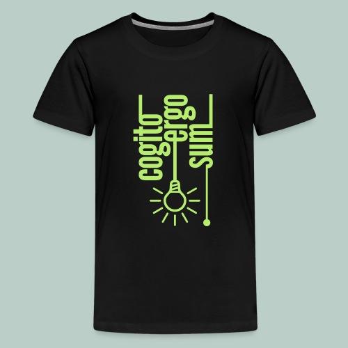 cogito ergo sum glühbirne - Teenager Premium T-Shirt