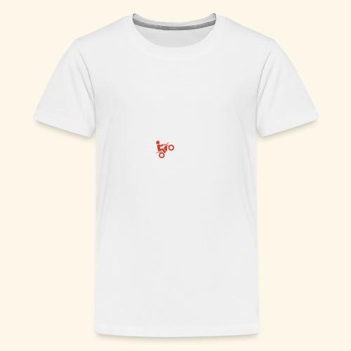LOVE Cross white wheely red 001 - Teenager Premium T-Shirt