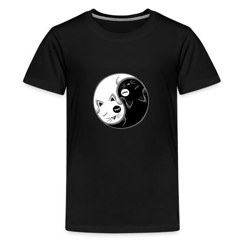 Yin Yang katze flex - Teenager Premium T-Shirt