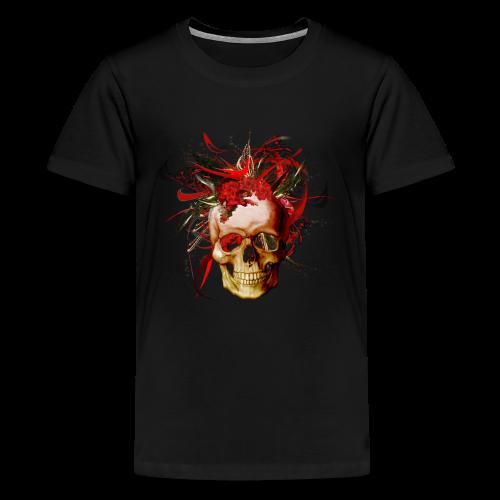Christmas mismatch skull - Premium-T-shirt tonåring