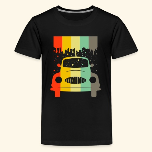 Retro Car Vintage Tee Men Women Gift Idea - Teenager Premium T-Shirt