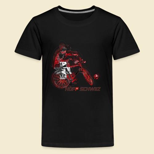 Radball | Hopp Schwiiz - Teenager Premium T-Shirt