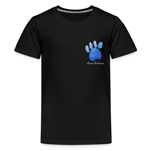 Tierfreund Choose Kindness Hundepfote Wasserfarben - Teenager Premium T-Shirt
