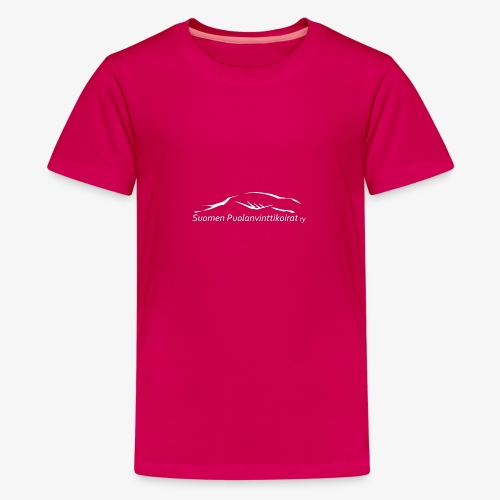 SUP logo valkea - Teinien premium t-paita