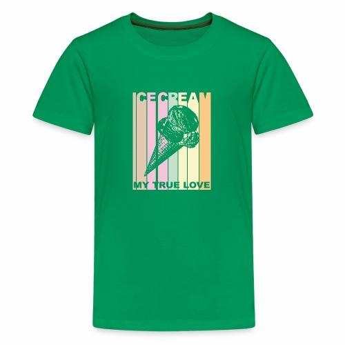 Ice Cream T-shirt Design im Vintage Look - Teenager Premium T-Shirt