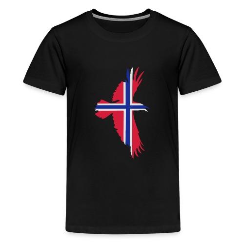 hrafnflag3 - Teenage Premium T-Shirt