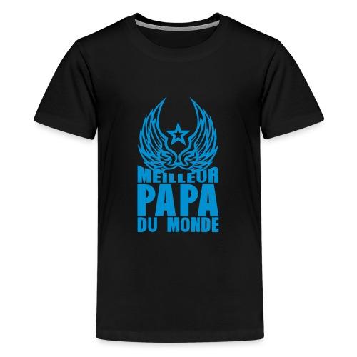 meilleur papa du monde aile etoile logo - T-shirt Premium Ado