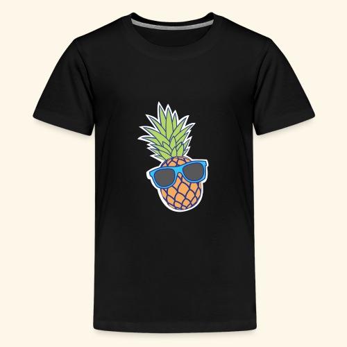 ananas met zonnebril - Teenager Premium T-shirt