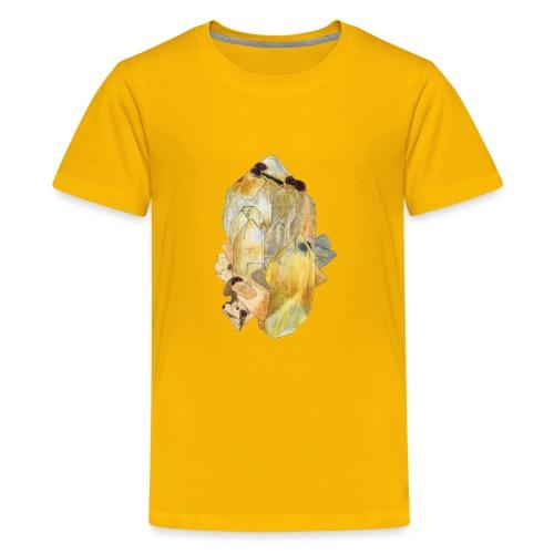 Bergkristall mit Granat - Teenager Premium T-Shirt