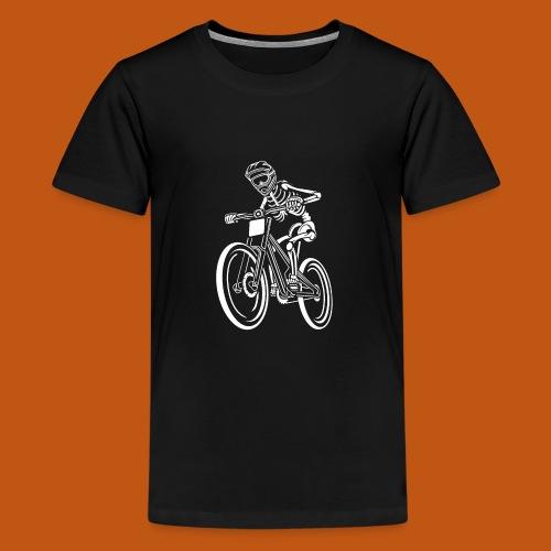 BMX / Mountain Biker 04_weiß - Teenager Premium T-Shirt