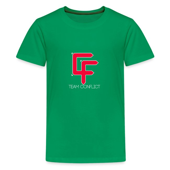 CF Final White Border t shirts with text thin whit