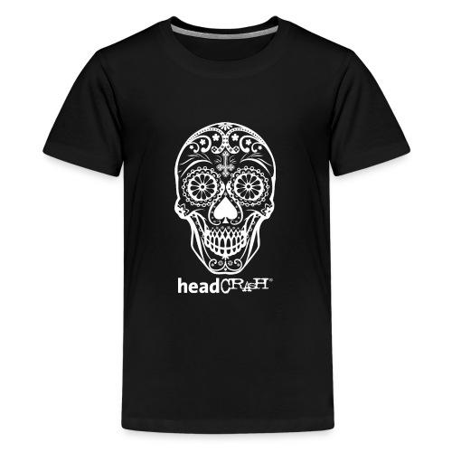 Skull & Logo white - Teenager Premium T-Shirt