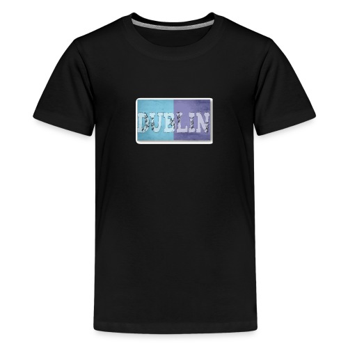 Dublin Distressed Flag T-Shirt - Teenage Premium T-Shirt