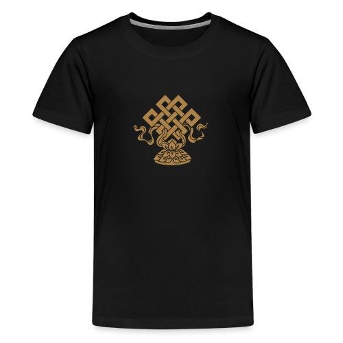 Endlosknoten, Buddhistisches Glückssymbol, Lotus - Teenager Premium T-Shirt