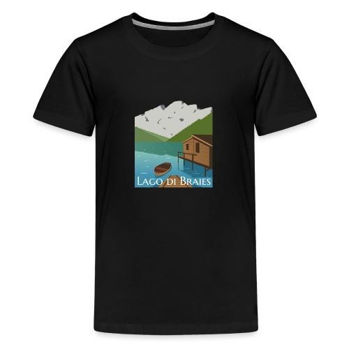 Illustrazione Lago di Braies - Maglietta Premium per ragazzi