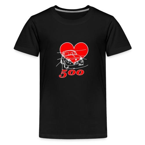 Mitica 500 Cuore - Amo la Mitica 500 - Maglietta Premium per ragazzi