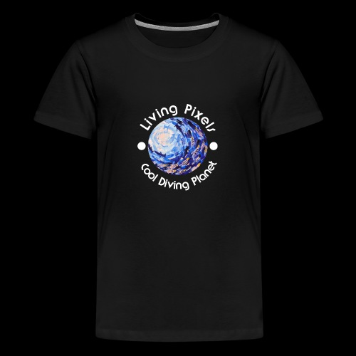 Living Pixels, Cool Diving Planet, Tauchen, hell - Teenager Premium T-Shirt