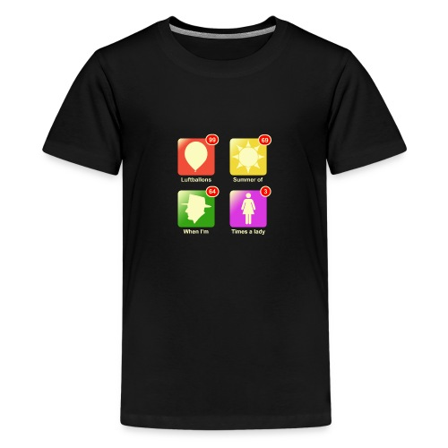 Muziek apps - Teenager Premium T-shirt