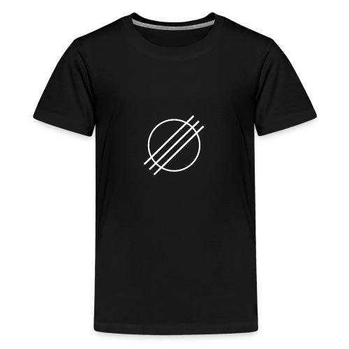 DJ Øyvind Offisiell Logo (hvit) - Premium T-skjorte for tenåringer