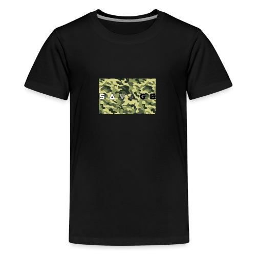 savage camo premium - Teenager Premium T-Shirt
