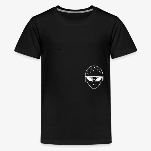 Mr3DAlien Logo White - Teenager Premium T-Shirt