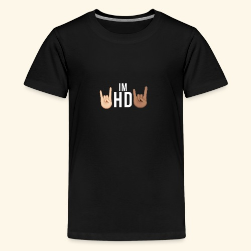 IM HD WHITE - Teenage Premium T-Shirt